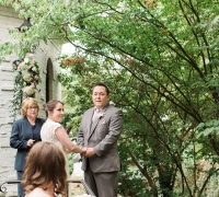 Wedding officiant outdoor ceremony