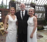 wedding officiant and couple