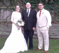 wedding officiant Henry and couple