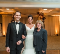 Wedding ceremony with officiant